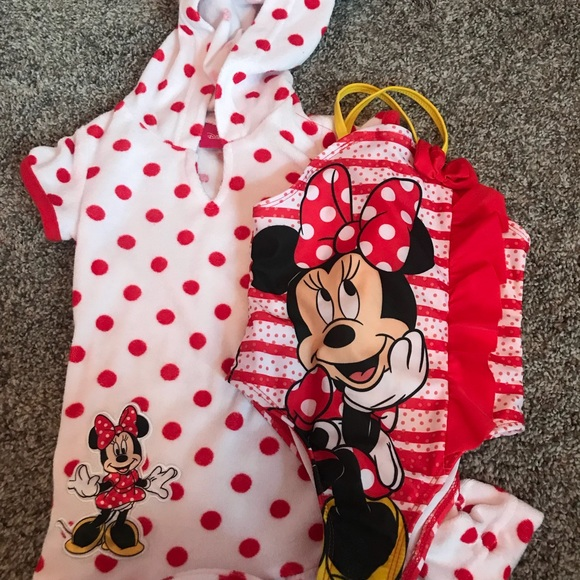 3d9489d72d554 Disney Other - Minnie Mouse bathing suit and cover up